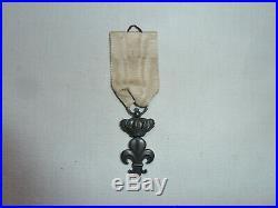 Rare Médaille Chevalier Ordre Du Lys Louis XVIII 1814 Époque Restauration Argent