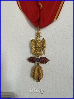 Rare Medaille Militaire Ordre Imperial Des Trois Toisons Dor