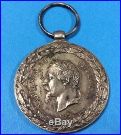 Rare Medaille Napoléon 3 Argent 1859 Campagne D Italie