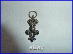 Rare Médaille Ordre Du Lys Profil De Louis XVIII 1814 Époque Restauration Argent