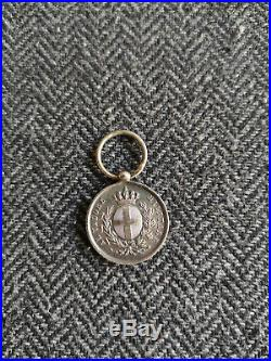 Rare Médaille Valeur Militaire Campagna DI Crimea 1854 Al Valore Militare Sarde