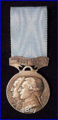 Rare Médaille de Château Thierry côte 204 avec son ruban conforme