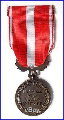 Rare Médaille de la Valeur Militaire 1er type de la Monnaie de Paris avec citat°
