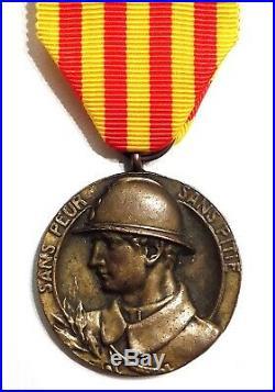 Rare Médaille des Volontaires Catalans de 1914-1918 / Légion Étrangère