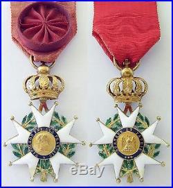 Rare Officier De La Légion D'honneur Présidence 1852 Louis Napoléon Bonaparte Or