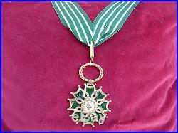 Rare Ordre Des Arts Et Des Lettres Ou Médaille De Commandeur En Vermeil