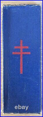 Rare Ordre de la Libération croix compagnon France Libre en boîte dorigine FFL