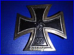 Rare Originale Croix De Fer 1er Classe Allemande 1939