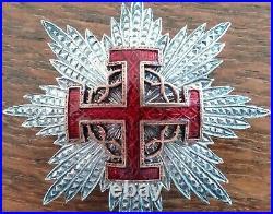 Rare Plaque En Argent De Grand Croix Du Mérite De L'ordre Du Saint-sepulcre