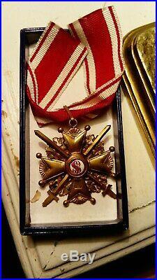 Rare medaille St. Stanislas/ avec epee/ 3-eme classe! G. M