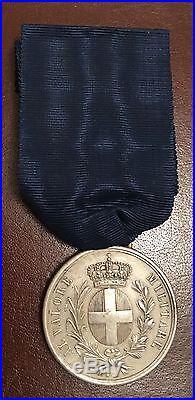 Rare médaille de la Valeur militaire sarde pour la Crimée (1855) artillerie