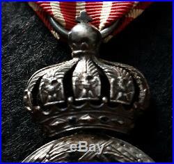 Rare médaille de la campagne d'Italie dite de l'Escadron des Cent Gardes