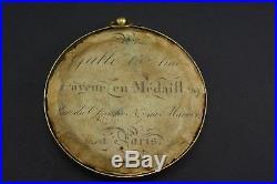 Rare médaille en bronze doré de Napoléon signé galle