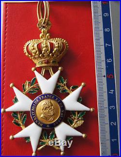 Rare ordre de la Légion d'Honneur Monarchie de juillet étoile de commandeur or