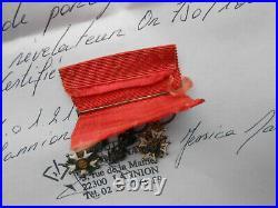 Rare portée de miniatures /SAINT LOUIS / LYS /LEGION d'HONNEUR +barette Or