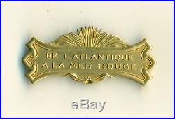 Rarissime barrette à clapet en or pour medaille coloniale