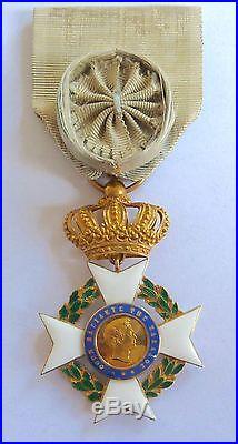 Rarissime ordre du sauveur de grèce 1er type OTHON 1er en or Napoléon III EMPIRE