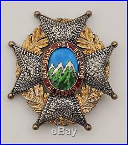 République d'Equateur. Ordre national du Mérite, plaque de Grand Croix