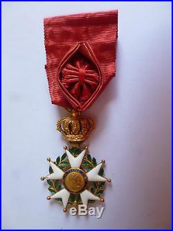 Restauration (1815-1830) Etoile d' Officier Ordre de la Légion d'Honneur en OR