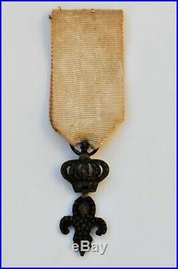 Restauration Ordre du Lys. Lys couronné en argent