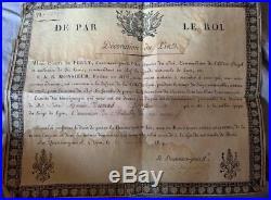 Restauration diplôme de l'Ordre du lys de Lyon