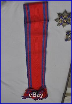 Roumanie Ordre de l'Etoile, ensemble de grand croix