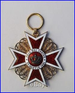 Roumanie Ordre de la Couronne, ensemble de Grand Croix