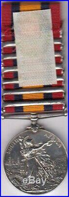 Royaume Uni Médaille Afrique du Sud & 7 Barrettes Attribuée South Africa Medal