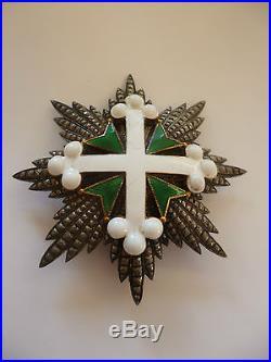 Royaume d' Italie Plaque de Grand Croix de l'Ordre de Saint Maurice et Lazarre
