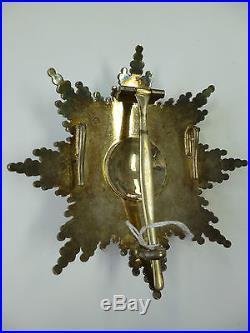 Royaume de Roumanie Plaque de Grand Croix Ordre de l'Etoile 1er type Vermeil