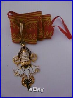 Royaume du Laos Commandeur Ordre du Million d'Eléphants Fabrication française