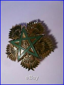Royaume du Maroc Plaque de la Classe Exceptionnelle Ordre du trône Vermeil