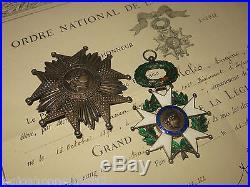 Rrr! Luxe! France Medaille Plaque Grand Croix Ordre De La Legion D'honneur
