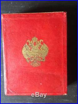 Russie Impériale Ecrin / Coffret commandeur Saint Anne / Saint Stanislas