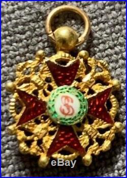 Russie Ordre de Saint Stanislas en or, miniature