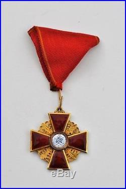 Russie Ordre de St. Anne, 3° classe, en or, éclat à l'émail d'une branche