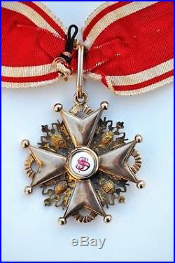 Russie Ordre de St. Stanislass, croix de 2° classe, commandeur, or