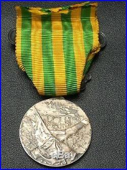 S7CF Superbe médaille de la campagne de Chine 1900 1901 complète french medal