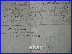 SECOND EMPIRE RARE BREVET 1868 DE LA MEDAILLE DE MENTANA soldat du 59° RI