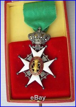SUEDE ORDRE DE VASA + son écrin medal medaille swedish order sweden Carlman