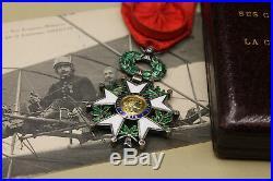 SUP Légion d'honneur diamants attribuée pionnier de l'aviation (brevet n°16)
