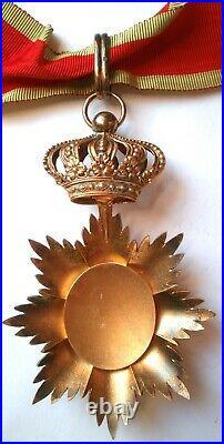 SUPERBE Ordre royal du Cambodge COMMANDEUR médaille Indochine Vermeil CHOBILLON