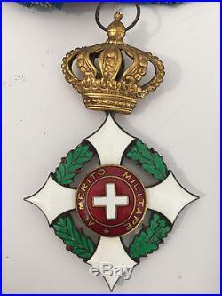 Sarde 0rdre militaire de Savoie Croix de Commandeur Italie