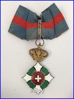 Sarde Ordre militaire de Savoie Croix de Commandeur Italie