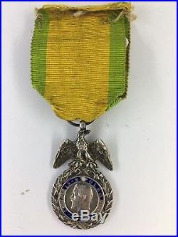 Second Empire Médaille Militaire Monobloc Ailes Décollées BARRE A1