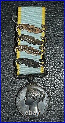 Second Empire médaille britannique de Crimée avec agrafes