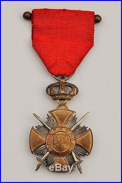 Serbie Odres de Karageorge, croix du mérite de l'ordre, 1914-1918