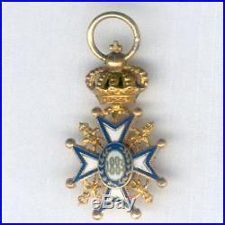 Serbie Ordre de St Sava 1903/21 Miniature (13,87mm)