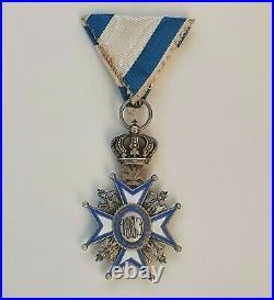 Serbie Ordre de St Sava, chevalier, 2° type, robe rouge