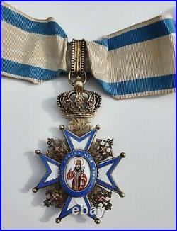 Serbie Ordre de St. Sava, commandeur, 1er type